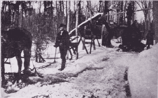 Fig. 10. Making an Ice Road by Flooding.