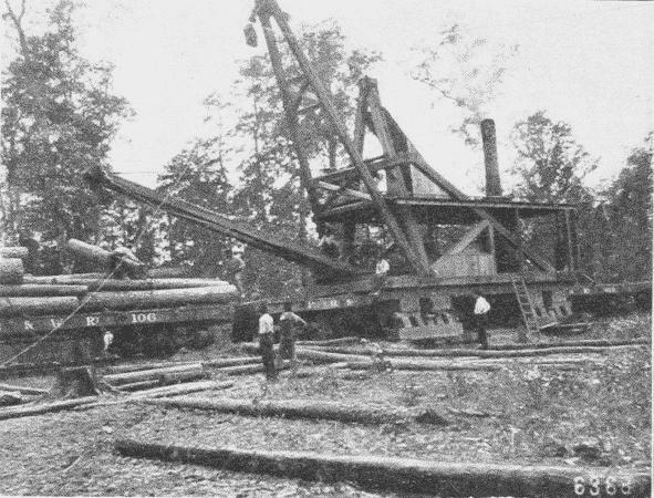 Fig. 27. Steam Skidder at Work. Grant County, Arkansas.