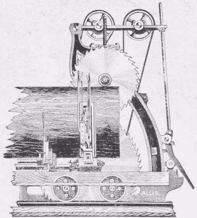 Fig. 32. Double Circular-Saw and Carriage.