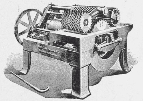 Fig. 49. Ten Saw Gang Lath Bolter.