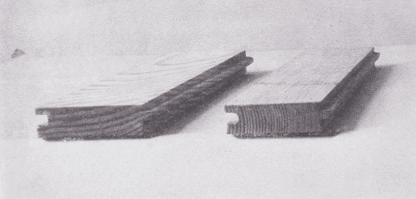 Fig. 55. Slash-Grain and Comb-Grain Flooring.