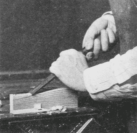 Fig. 69. Paring with a Chisel.