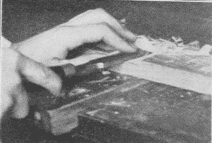 Fig. 71. Chiseling Out a Dado. (Second Step).
