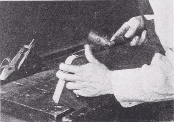 Fig. 74. Paring a Corner Round.