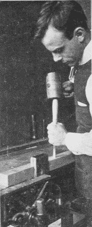 Fig. 76. Mallet Chiseling.