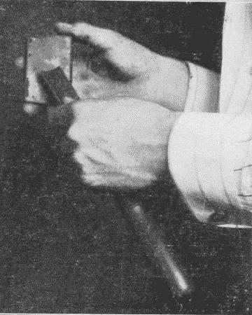 Fig. 83. Whetting a Gouge.