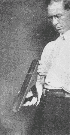 Fig. 102. Sighting Along the Sole of Jack-Plane.