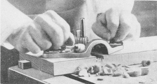 Fig. 122. Using a Router-Plane.