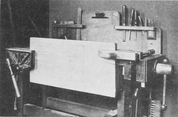 Fig. 169. Holding a Large Board in Vise for Planing.
