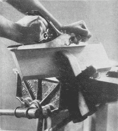 Fig. 175. Using a Handscrew to hold a Board at an Angle.