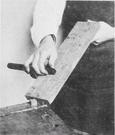 Fig. 214. Using the Marking-Gage.