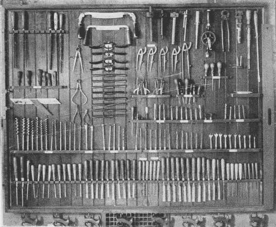 Fig. 239. General Tool rack in a School Shop.