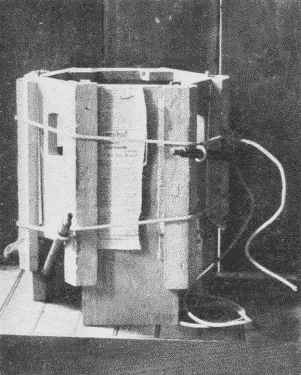 Fig. 257. One Method of Gluing up a Six-Sided Taboret.
