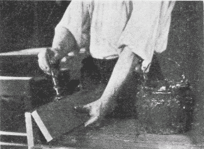 Fig. 260. Applying Glue for an Edge-to-Edge Joint.