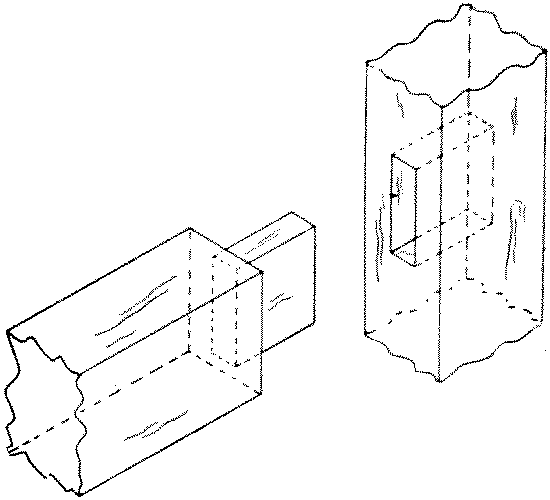 Fig. 266-32 Blind mortise and tenon