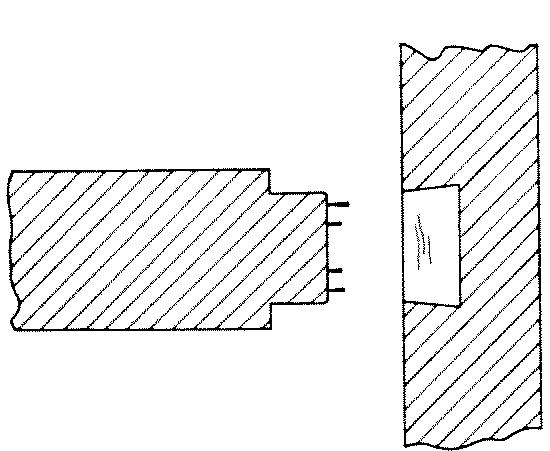 Fig. 266-36 Fox tail tenon