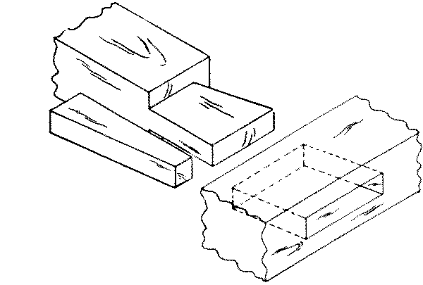 Fig. 266-37 Dovetail mortise and tenon