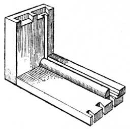 Fig. 24.—Glueing Ploughslips     to Drawer.