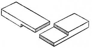 Fig. 29.—Halved Corner Joint.