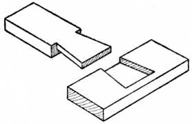 Fig. 38.—Stopped Dovetail     Halving.