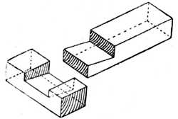 Fig. 41.—Tee Halving Joint.