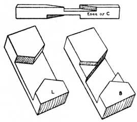 Fig. 46.—Detail of Halved Joints in Fig. 45.