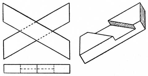 Fig. 51.—Oblique Cross Halving Joint.