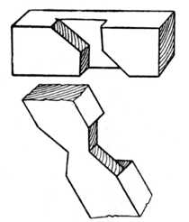 Fig. 54.—Carpentry Tie Joint.