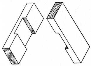 Fig. 62.—The Two Pieces of a Halved Joint.