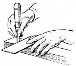 Fig. 64.—Marking the Joint with Try Square.