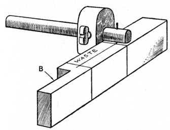 Fig. 65.—Using the Marking Gauge.