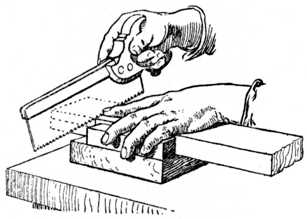 Fig. 67.—How work is held when Sawing Shoulder.