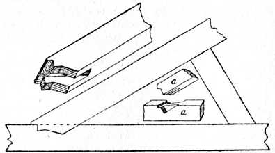 Fig. 80.—Application of Bridle Joint to Roof Truss.