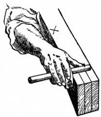 Fig. 82.—Gauging the     Timber.