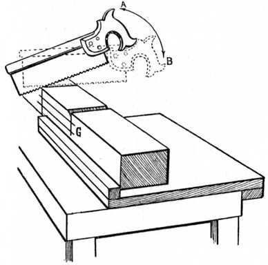 Fig. 89.—Sawing the Shoulders.