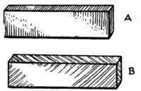 Fig. 103.—(A) Cross Tongue.     (B) Feather Tongue.