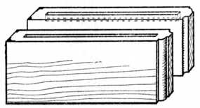 Fig. 106.—Part of Sideboard Top; grooved with ends left blind. (The boards are shown upright.)
