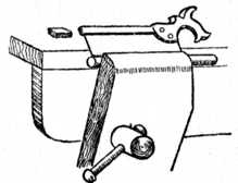 Fig. 193.—Sawing Groove     in Dowel.
