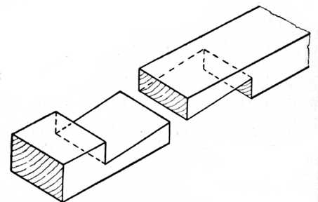 Fig. 212.—Dovetailed Scarf Joint.