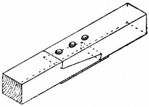 Fig. 213.—Plated Scarf Joint Used in Roof Work.
