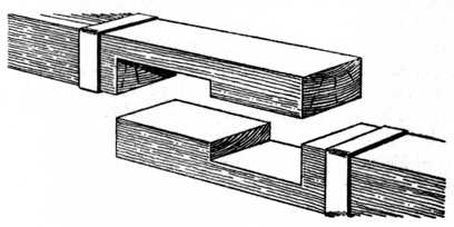 Fig. 219.—Example of Tabled Joint with Straps.