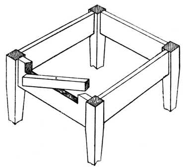 Fig. 243.—Revolving Fly Rail for Table.     See Pivoted Fly or Front Rail.