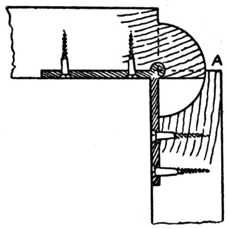 Fig. 252.—The Rule Joint     with Leaf Down.