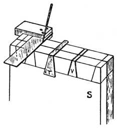 Fig. 272.—Squaring and     use of Template.