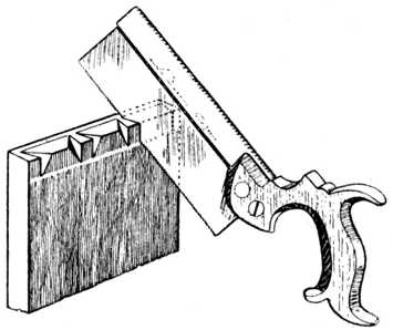 Fig. 274.——Removing the Waste Wood.