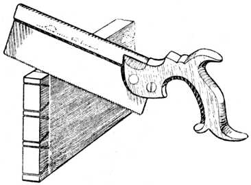 Fig. 275.——Cutting away the Half Dovetails.