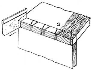 Fig. 279.—Marking by means of     Saw Blade.