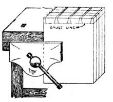 Fig. 283.—Cutting several Dovetails at once.