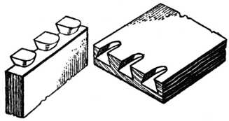Fig. 312.—Machine-made Drawer Front and Side, Apart.