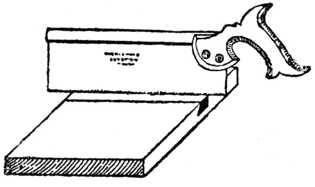 Fig. 316.—Cutting the Saw Kerf.